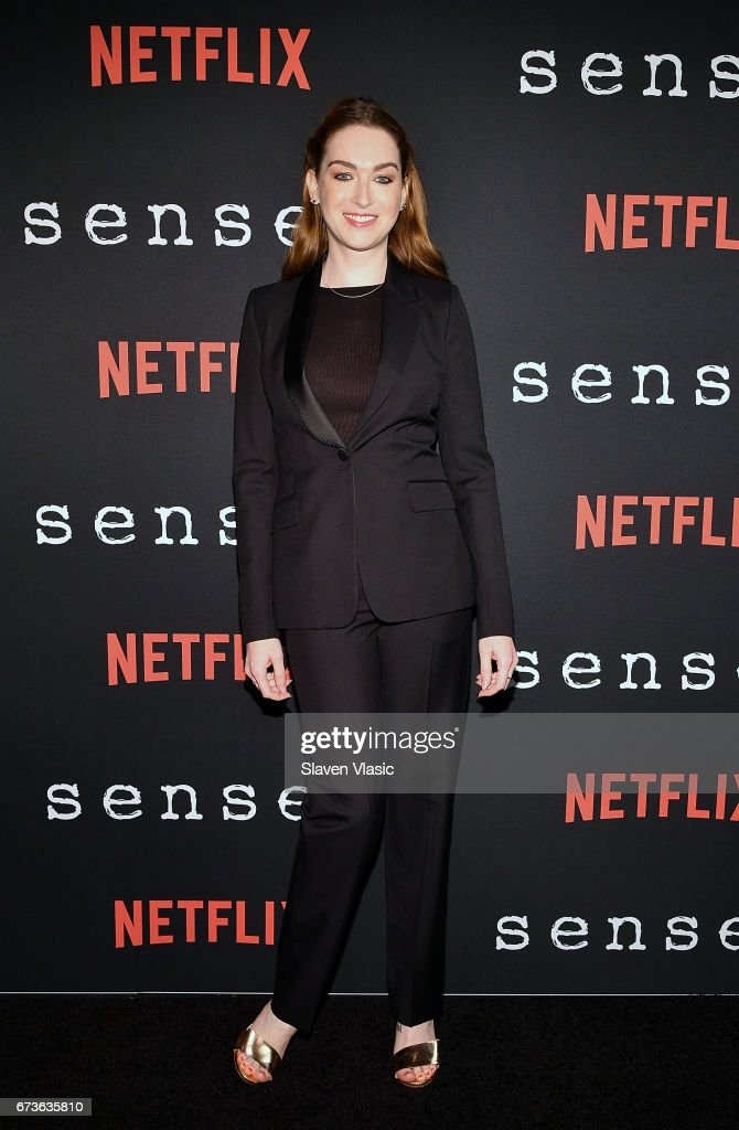 Actor Jamie Clayton attends 'Sense8' New York Premiere at AMC Lincoln Square Theater on April 26, 2017 in New York City.