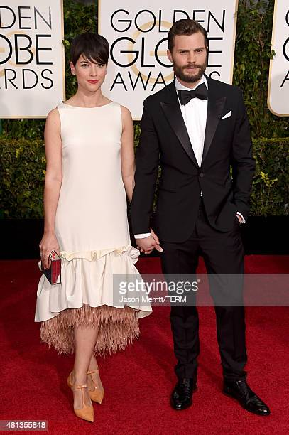 Actor Jamie Dornan and Amelia Warner attend the 72nd Annual Golden Globe Awards at The Beverly Hilton Hotel on January 11 2015 in Beverly Hills...