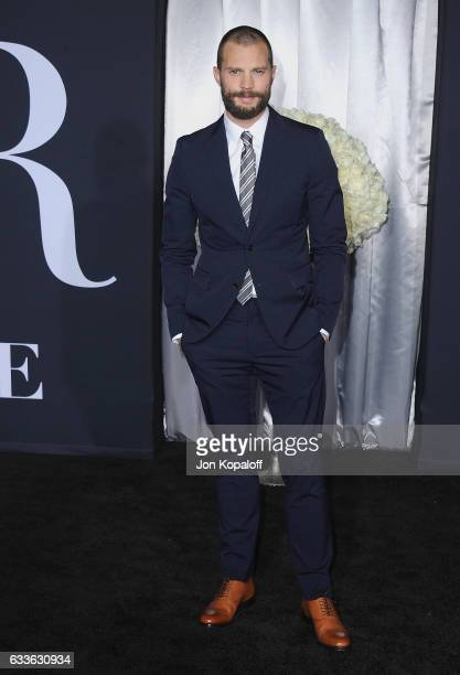 Actor Jamie Dornan arrives at the Los Angeles premiere 'Fifty Shades Darker' at The Theatre at Ace Hotel on February 2 2017 in Los Angeles California