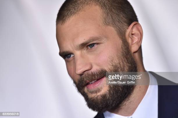 Actor Jamie Dornan arrives at the premiere of Universal Pictures' 'Fifty Shades Darker' at The Theatre at Ace Hotel on February 2 2017 in Los Angeles...