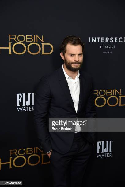 Actor Jamie Dornan attends FIJI Water at The New York Special Screening of 'Robin Hood' at AMC Loews Lincoln Square on November 11 2018 in New York...