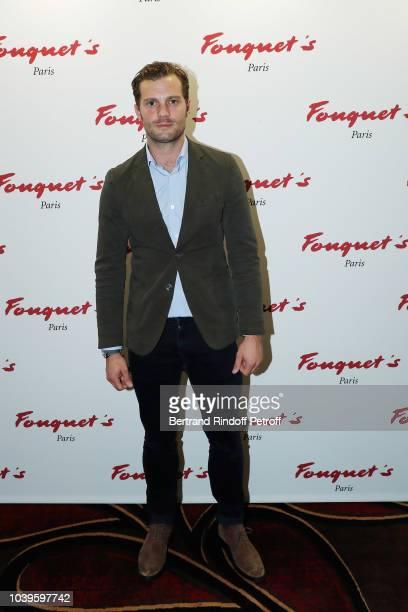 Actor Jamie Dornan attends 'Ryder Cup Dinner' at Fouquet's Barriere on September 24 2018 in Paris France
