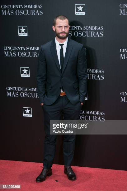 Actor Jamie Dornan attends the 'Fifty Shades Darker' premiere at Kinepolis Cinema on February 8 2017 in Madrid Spain