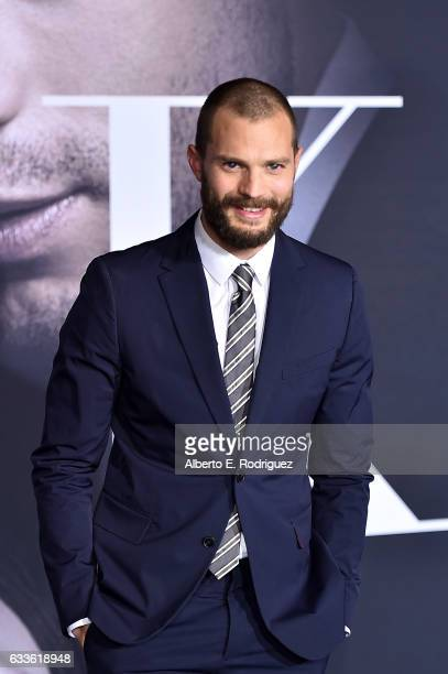 Actor Jamie Dornan attends the premiere of Universal Pictures' 'Fifty Shades Darker' at The Theatre at Ace Hotel on February 2 2017 in Los Angeles...