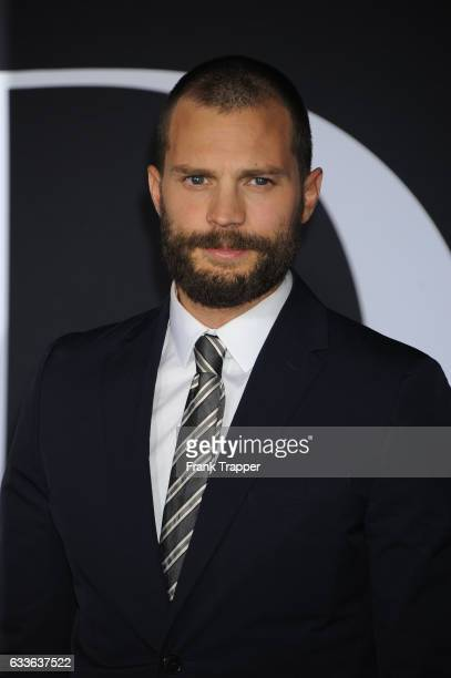 Actor Jamie Dornan attends the premiere of Universal Pictures' 'Fifty Shades Darker' at The Theatre at Ace Hotel on February 2, 2017 in Los Angeles,...