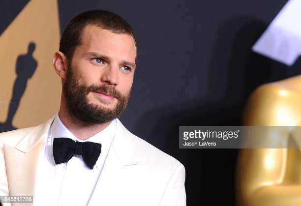 Actor Jamie Dornan poses in the press room at the 89th annual Academy Awards at Hollywood Highland Center on February 26 2017 in Hollywood California
