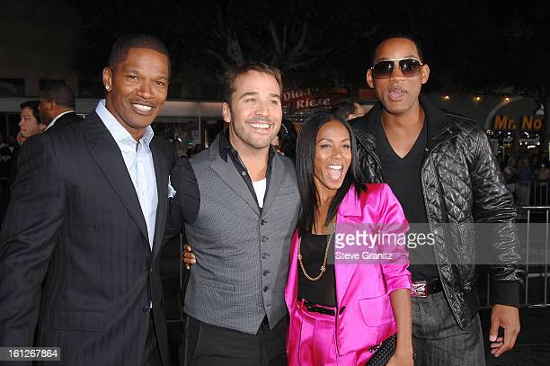 Actor Jamie Foxx and Actor Jeremy Piven and Actress Jada Pinkett Smith and Actor Will Smith arrives at the Mann's Village Theatre for the Los Angeles...