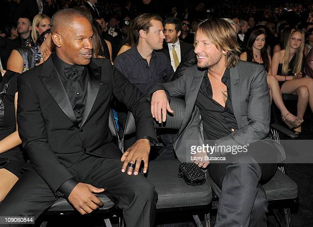 Actor Jamie Foxx and musician Keith Urban attend The 53rd Annual GRAMMY Awards held at Staples Center on February 13, 2011 in Los Angeles, California.