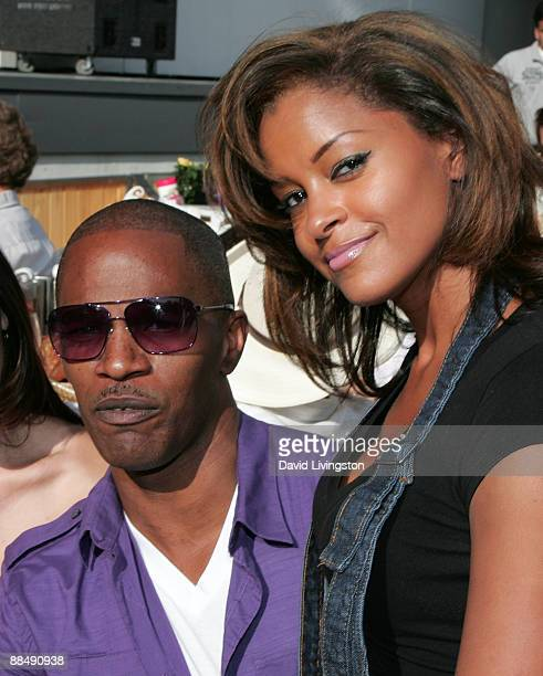 Actor Jamie Foxx and TV personality Claudia Jordan attend the 31st annual Playboy Jazz Festival at the Hollywood Bowl on June 14, 2009 in Hollywood,...