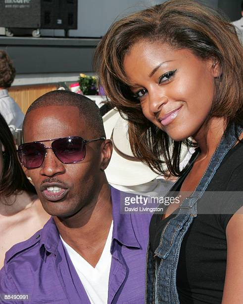 Actor Jamie Foxx and TV personality Claudia Jordan attend the 31st annual Playboy Jazz Festival at the Hollywood Bowl on June 14 2009 in Hollywood...