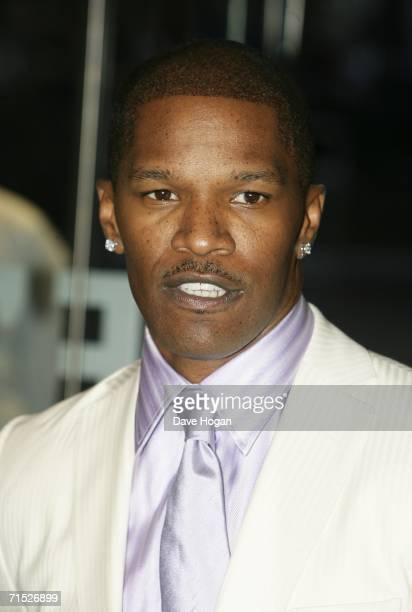 Actor Jamie Foxx arrives at the European premiere of 'Miami Vice' at Odeon Leicester Square on July 27 2006 in London England