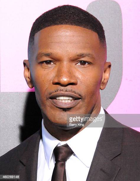 Actor Jamie Foxx arrives at the Los Angeles Premiere 'Horrible Bosses 2' at TCL Chinese Theatre on November 20 2014 in Hollywood California