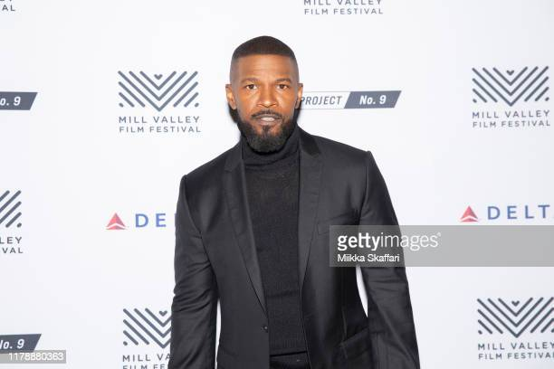 "Actor Jamie Foxx arrives at the opening night premiere of ""Just Mercy"" at 42nd Mill Valley Film Festival at The Outdoor Art Club on October 03, 2019..."