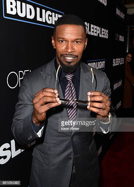 Actor Jamie Foxx arrives at the premiere of Open Road Films' Sleepless at the Regal LA Live Stadium 14 Theatre on January 5 2017 in Los Angeles...