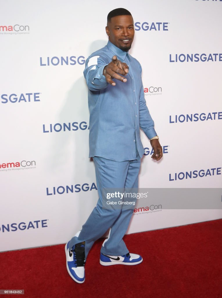 Actor Jamie Foxx attends CinemaCon 2018 Lionsgate Invites You to An Exclusive Presentation Highlighting Its 2018 Summer and Beyond at The Colosseum at Caesars Palace during CinemaCon, the official convention of the National Association of Theatre Owners, on April 26, 2018 in Las Vegas, Nevada.