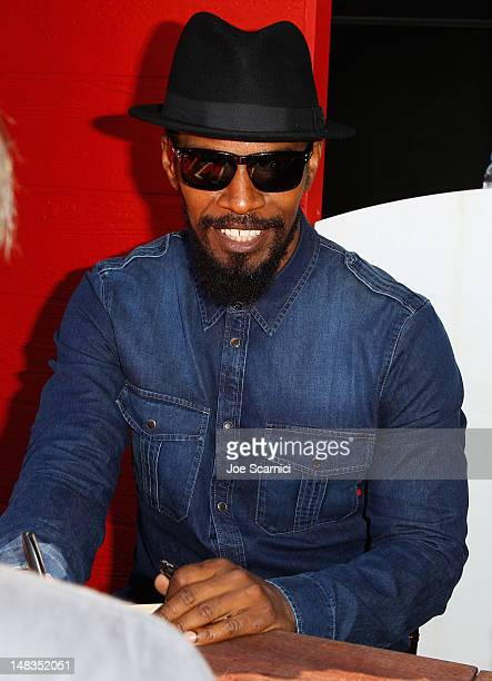 Actor Jamie Foxx attends Django Unchained Old West Town at ComicCon on July 14 2012 in San Diego California