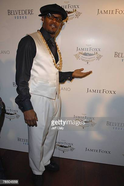 Actor Jamie Foxx attends his 40th birthday party hosted by Belvedere Vodka at The Florida Room located within The Delano Hotel on December 15 2007 in...