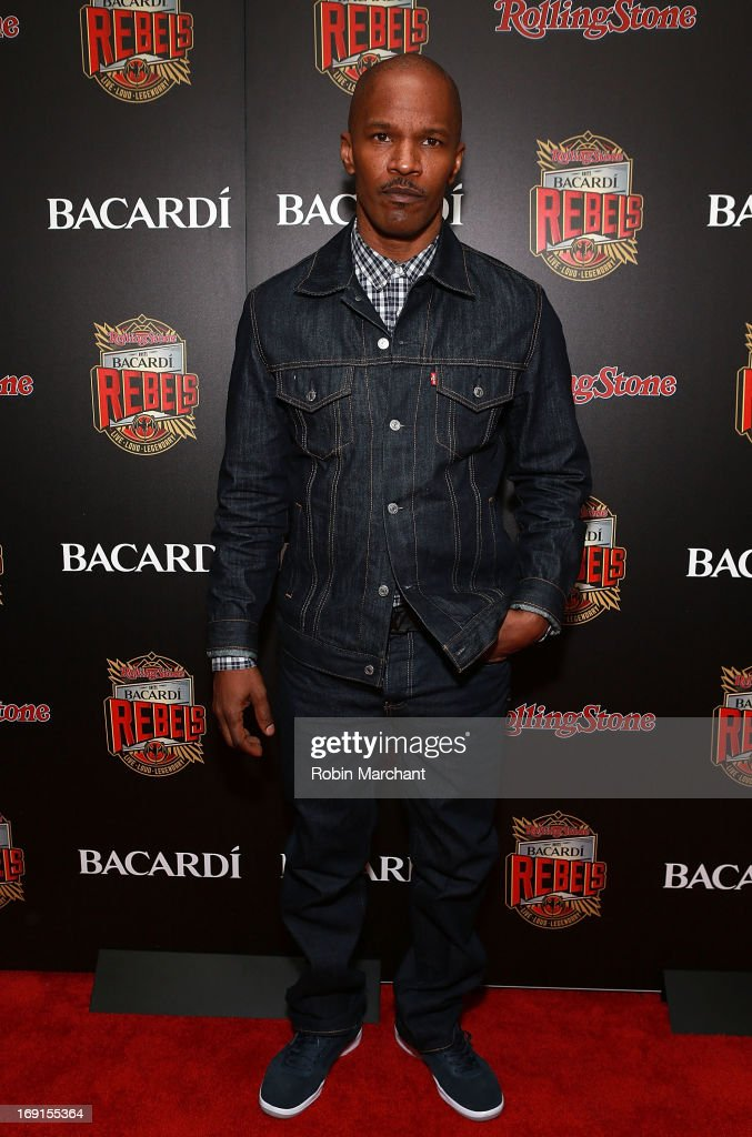 Actor Jamie Foxx attends Inaugural Bacardi Rebels event hosted by Rolling Stone at Roseland Ballroom on May 20, 2013 in New York City.