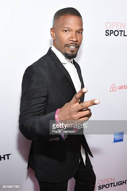 Actor Jamie Foxx attends Open Spotlight at The Oasis during Airbnb Open LA Day 3 on November 19 2016 in Los Angeles California
