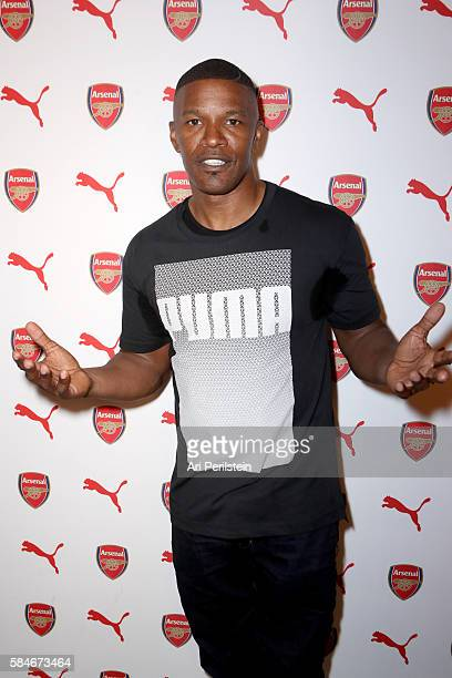 Actor Jamie Foxx attends PUMA and Arsenal Football Club 2016/17 AFC Away Third Kit reveal event on July 29 2016 in Culver City California