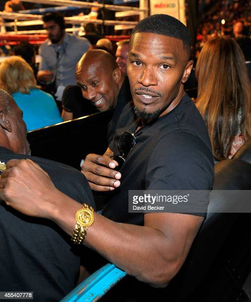 Actor Jamie Foxx attends Showtime's 'Mayhem Mayweather vs Maidana 2' at the MGM Grand Garden Arena on September 13 2014 in Las Vegas Nevada