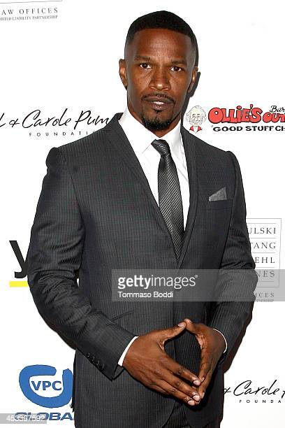 Actor Jamie Foxx attends the 14th annual Harold & Carole Pump Foundation Gala held at the Hyatt Regency Century Plaza on August 8, 2014 in Century...