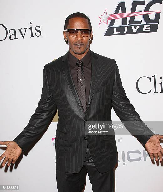 Actor Jamie Foxx attends the 2009 GRAMMY Salute To Industry Icons honoring Clive Davis at the Beverly Hilton Hotel on February 7 2009 in Beverly...