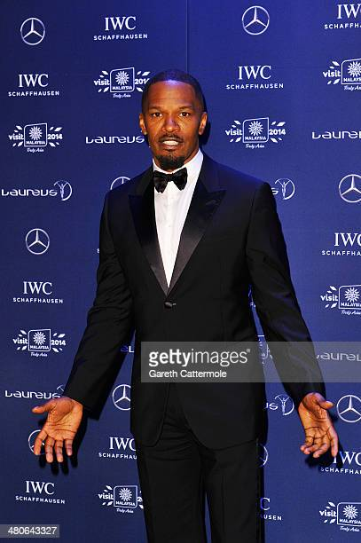Actor Jamie Foxx attends the 2014 Laureus World Sports Awards at the Istana Budaya Theatre on March 26 2014 in Kuala Lumpur Malaysia