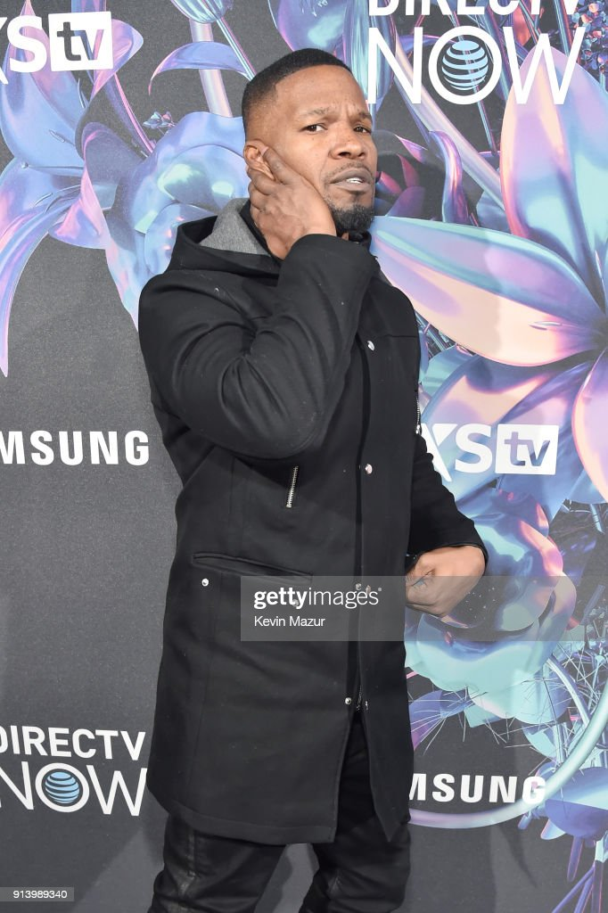 Actor Jamie Foxx attends the 2018 DIRECTV NOW Super Saturday Night Concert at NOMADIC LIVE! at The Armory on February 3, 2018 in Minneapolis, Minnesota.