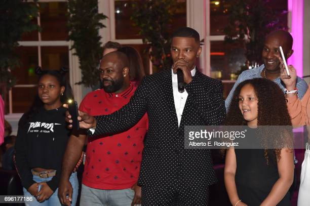 Actor Jamie Foxx attends the after party for the premiere of Sony Pictures' 'Baby Driver' on June 14 2017 in Los Angeles California
