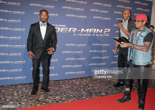Actor Jamie Foxx attends 'The Amazing Spider-Man 2: Rise Of Electro' Rome Premiere at The Space Moderno Cinema on April 14, 2014 in Rome, Italy.