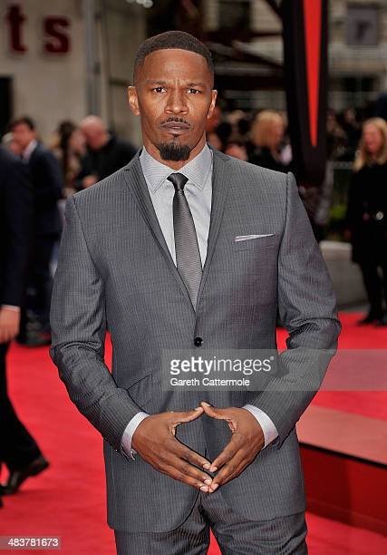 Actor Jamie Foxx attends 'The Amazing SpiderMan 2' world premiere at the Odeon Leicester Square on April 10 2014 in London England