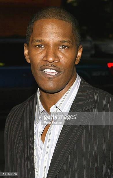 Actor Jamie Foxx attends the 'Collateral' New York film premiere during the Eighth Annual Urbanworld Film Festival at the Magic Johnson Theatre...