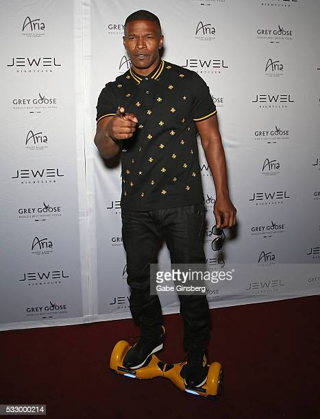 Actor Jamie Foxx attends the grand opening of Jewel Nightclub at the Aria Resort Casino on May 19 2016 in Las Vegas Nevada