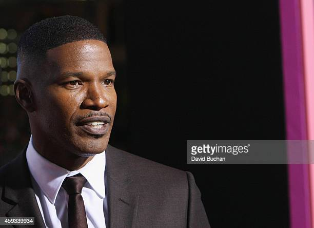 "Actor Jamie Foxx attends the Los Angeles premiere of New Line Cinema's ""Horrible Bosses 2"" at TCL Chinese Theatre on November 20, 2014 in Hollywood,..."