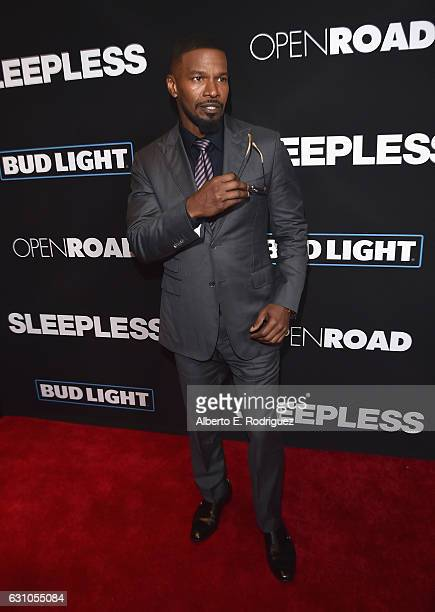 Actor Jamie Foxx attends the Premiere of Open Road Films' Sleepless at Regal LA Live Stadium 14 on January 5 2017 in Los Angeles California