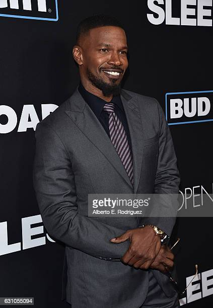 Actor Jamie Foxx attends the Premiere of Open Road Films' 'Sleepless' at Regal LA Live Stadium 14 on January 5 2017 in Los Angeles California
