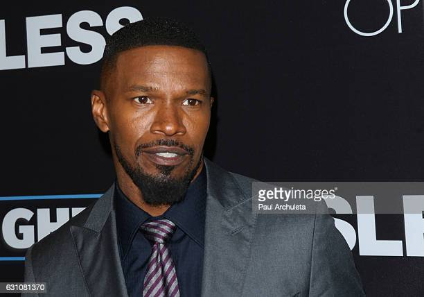 Actor Jamie Foxx attends the premiere of Sleepless at the Regal LA Live Stadium 14 on January 5 2017 in Los Angeles California