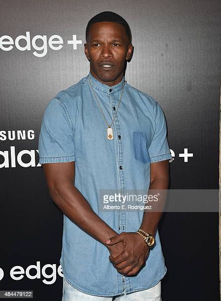 Actor Jamie Foxx attends the Samsung Galaxy S6 Edge Plus and Note 5 Launch party on August 18 2015 in West Hollywood California