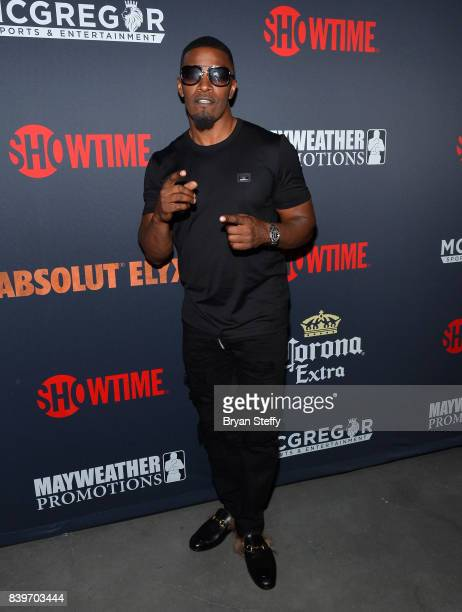 Actor Jamie Foxx attends the Showtime WME IME and Mayweather Promotions VIP PreFight party for Mayweather vs McGregor at TMobile Arena on August 26...