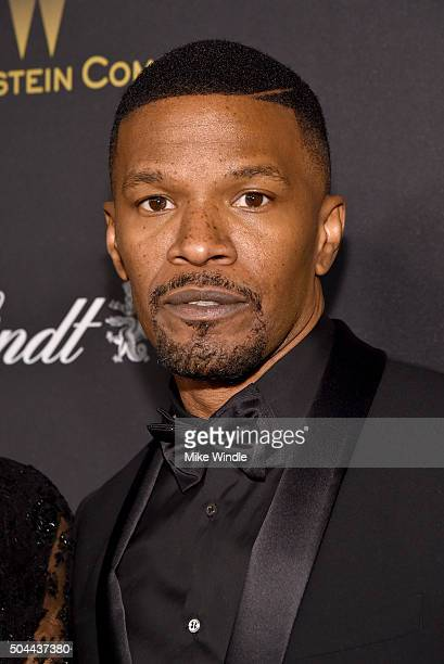 Actor Jamie Foxx attends The Weinstein Company and Netflix Golden Globe Party, presented with DeLeon Tequila, Laura Mercier, Lindt Chocolate, Marie...
