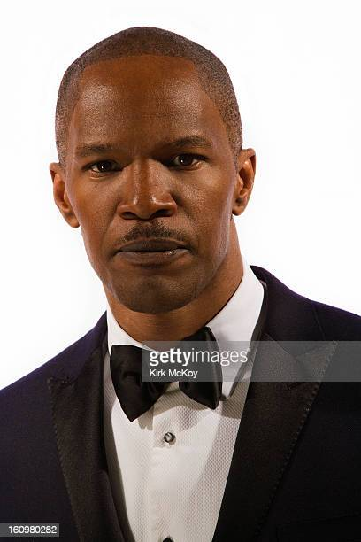 Actor Jamie Foxx is photographed at the NAACP Image Awards for Los Angeles Times on February 1 2013 in Los Angeles California PUBLISHED IMAGE CREDIT...