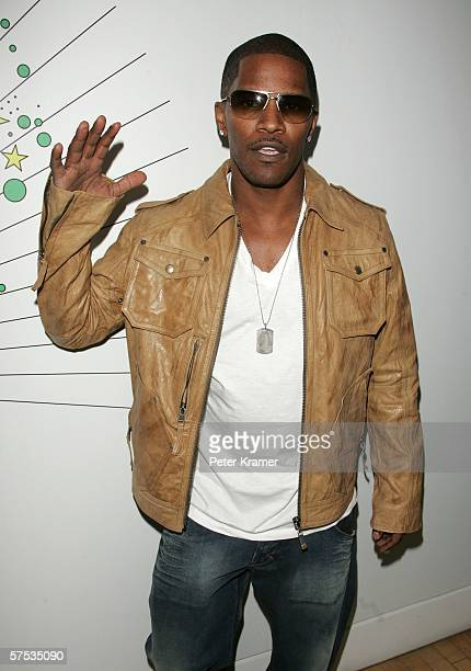 Actor Jamie Foxx makes an appearance on MTV's Total Request Live on May 4, 2006 in New York City.