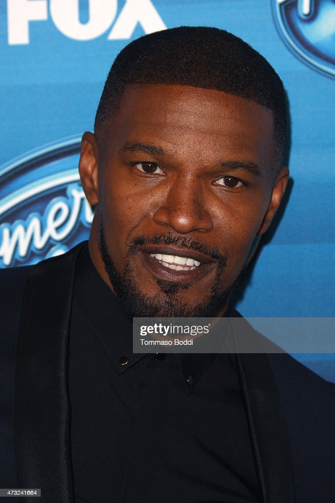Actor Jamie Foxx poses in the press room at the 'American Idol' XIV grand finale at Dolby Theatre on May 13, 2015 in Hollywood, California.