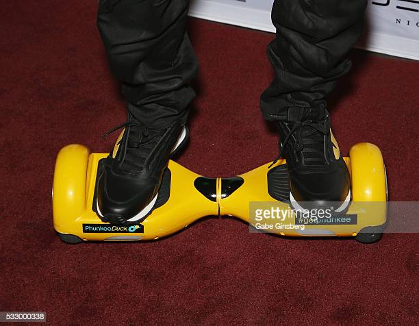 Actor Jamie Foxx shoes detail attends the grand opening of Jewel Nightclub at the Aria Resort Casino on May 19 2016 in Las Vegas Nevada