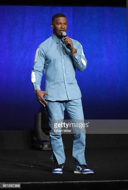 Actor Jamie Foxx speaks onstage during CinemaCon 2018 Lionsgate Invites You to An Exclusive Presentation Highlighting Its 2018 Summer and Beyond at...