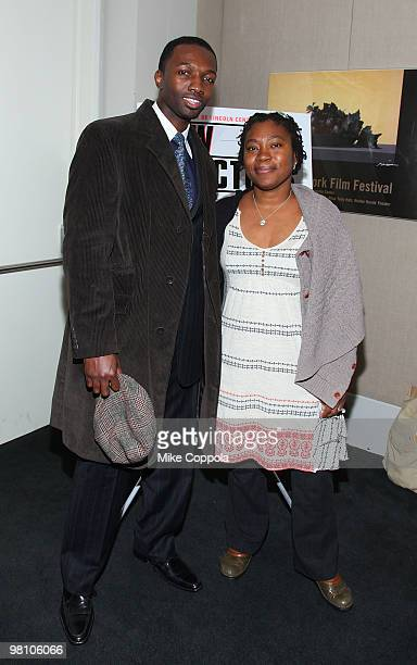 """Actor Jamie Hector and director Tanya Hamilton attends the Film Society of Lincoln Center's """"Night Catches Us"""" at Walter Reade Theater on March 28,..."""