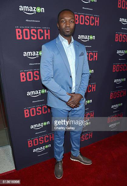 Actor Jamie Hector attends Amazon Red Carpet Premiere Screening For Season Two Of Original Drama Series 'Bosch' on March 3 2016 in Los Angeles...