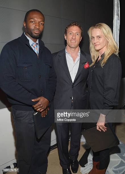 Actor Jamie Hector Chairman of the Headstrong Project Zach Iscol and Joanne Tucker of Theatre of War attend the Headstrong Project's first ever Words...