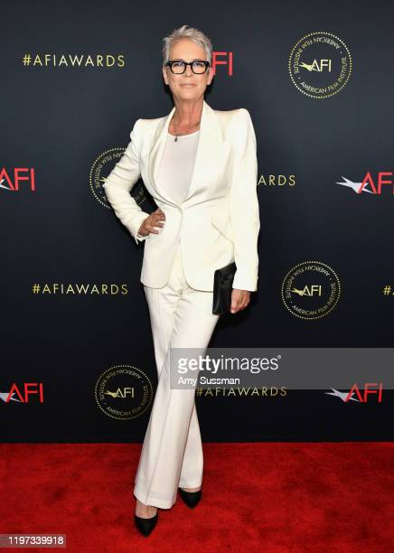 Actor Jamie Lee Curtis attends the 20th Annual AFI Awards at Four Seasons Hotel Los Angeles at Beverly Hills on January 03, 2020 in Los Angeles,...